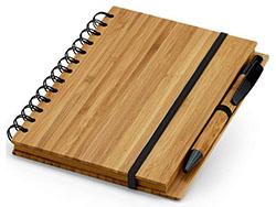 Notitieboekje met balpen bamboe songa