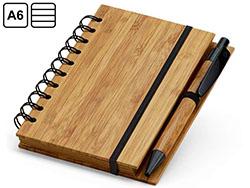 Notitieboekje met balpen bamboe