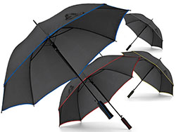 Automatische paraplu kleurrand