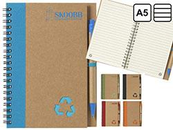 Milieuvriendelijk notitieboekje recycled materiaal