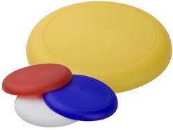 Ronde frisbee, gemaakt van plastic