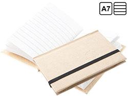 Gerecyclede kartonnen notitieblok met 60 pagina's