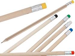Houten potlood met gekleurde gum