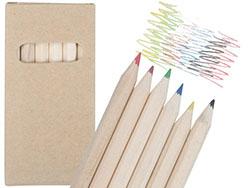 6 houten kleurpotloden tete