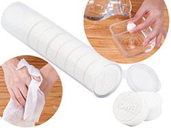Watjes pil vormige doekjes in plastic hoes