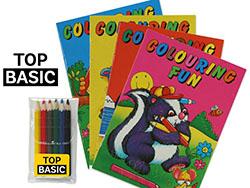 Kleurboek a6 met kleurset
