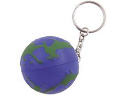 Anti-stress sleutelhanger wereldbol