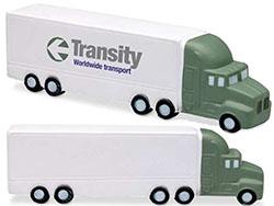 Anti-stress in de vorm van een vrachtwagen