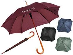 Paraplu met automatische telescoopvering hoekig