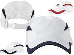 6 panel pet met gaasrand 100 % polyester