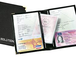 Autopapierenportefeuille van imitatieleer