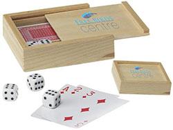 5 dobbelstenen en een stok kaarten (54)