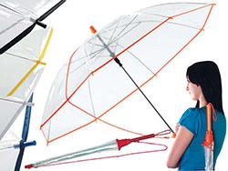 Transparant automatische paraplu