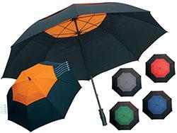 Manueel te openen golfparaplu met nylon cover