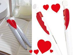 Blauwschrijvende pennenset 'valentine'
