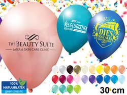 Ballon diameter 30 cm metallic kleuren