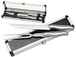 2-delig roestvrijstalen mes en vork set