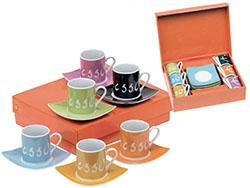 6-delig espresso set  van keramiek