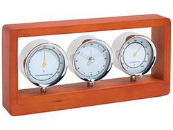 Metalen weerstation met hygrometer thermometer