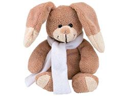 Pluche konijn met los bijgeleverde sjaal