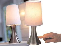 Tafellamp werkend door middel van aanraking