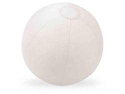 Opblaasbare strandbal frosty wit 24,5 cm