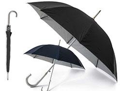 Automatische paraplu zilver binnen