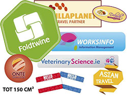 Stickers. leverbaar in alle vormen tot 150 cm²