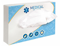 Tissue box rechthoek met 50 tissues
