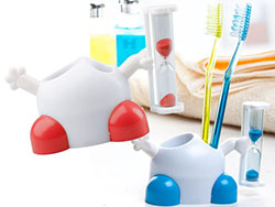 Tandenborstelhouder met zandloper
