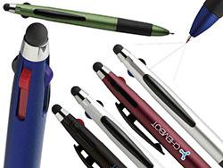 3-kleuren balpen met stylus