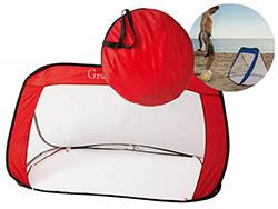 Opvouwbaar stranddoel van nylon
