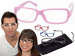 Bril zonder glas in etui