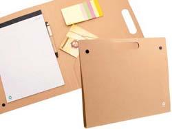 Schrijfmap van  gerecycled karton