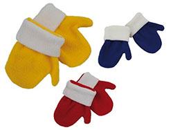 Kinder fleece handschoen, 1 maat