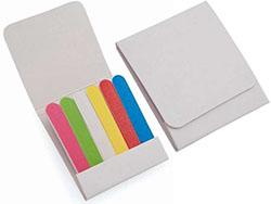 Zes nagelvijltjes in kartonnen doosje