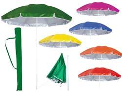 Strand parasol met uv bescherming en draagtas