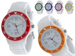Horloge met siliconen band spline
