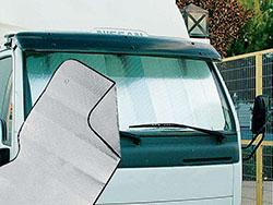 Auto zonnescherm, tweezijdig aluminium 143 x 74 cm
