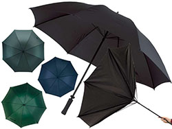 Manuele stormvaste paraplu met fiberglas steel