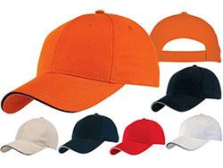 5 panel baseball cap met bollende klep