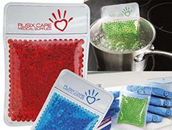 Transparante warmtepad gevuld met gelparels