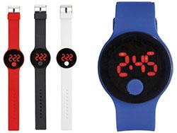 Digitaal touch-horloge met siliconen polsband