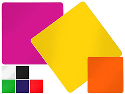Vierkante koelkastmagneet met gekleurd oppervlak