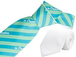 Witte stropdas met sublimatiedruk