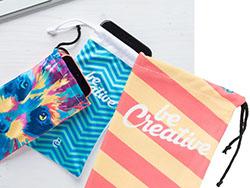 Custom made, mobiele telefoonhoes van polyester