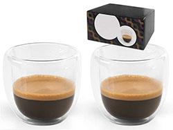 Koffie set 2 dubbelwandige mokken