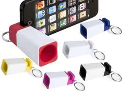 Compacte telefoonstandaard met speaker
