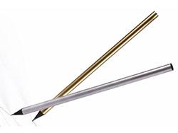 Houten potlood zilver goud