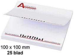 Memoblaadjes 100-100 mm 25 blad